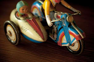 レトロなブリキのおもちゃの素材 [FYI00496467]