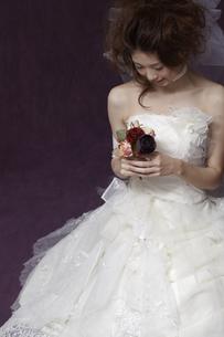 ブーケを持つ花嫁の写真素材 [FYI00496843]