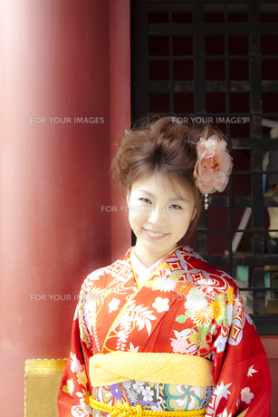 着物姿の女性 宮城県塩釜市の写真素材 [FYI00497011]