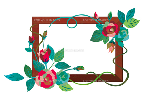 花のフレーム02の素材 [FYI00497182]