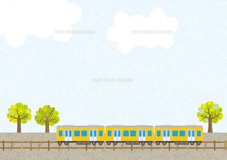 電車のある風景の素材 [FYI00497184]
