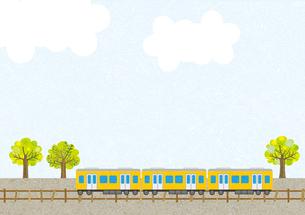 電車のある風景の写真素材 [FYI00497184]