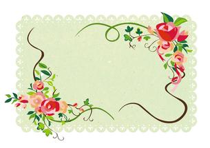 花のフレーム03の素材 [FYI00497189]