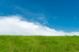 草原と雲と空の写真素材 [FYI00497196]