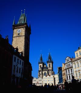 チェコ、プラハの町並みの写真素材 [FYI00497508]