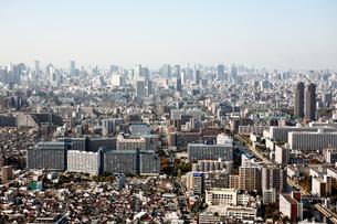 東京の街の空撮 の写真素材 [FYI00497707]