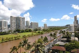 ハワイオアフ島 アラワイ運河の写真素材 [FYI00497713]
