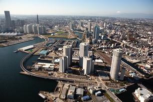 神奈川県 横浜港上空付近 空撮の写真素材 [FYI00497725]