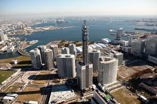 神奈川県 横浜港上空付近 空撮の写真素材 [FYI00497730]