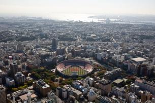 神奈川県 横浜上空付近 空撮の写真素材 [FYI00497732]