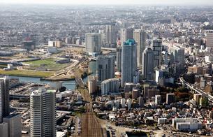 神奈川県 横浜駅 上空付近 空撮の写真素材 [FYI00497733]