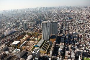 東京の街の空撮 の写真素材 [FYI00497736]
