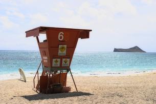 ハワイ オアフ島のビーチの写真素材 [FYI00497761]