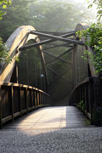 伊豆湯ヶ島温泉にかかるつり橋の写真素材 [FYI00497795]