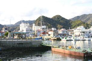 下田の港の風景の写真素材 [FYI00498002]