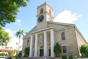 オアフ最古の由緒ある教会 カワイアハオ教会の写真素材 [FYI00498030]