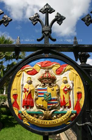 ハワイ王朝のカラフルな紋章の素材 [FYI00498032]