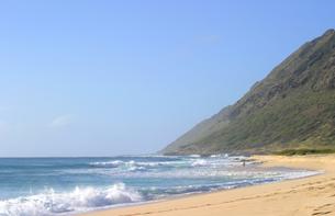 ハワイオアフ島、ヨコハマベイの様子の写真素材 [FYI00498104]