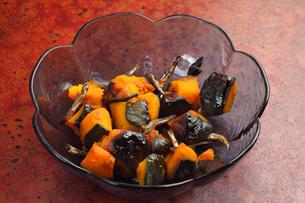 かぼちゃの煮つけの写真素材 [FYI00498223]