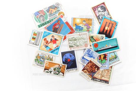 世界の切手の写真素材 [FYI00498428]