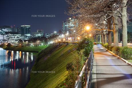 皇居周辺の夜景の写真素材 [FYI00498519]