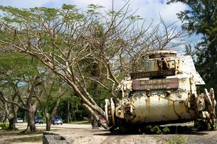 日本軍戦車 残骸 サイパン島の写真素材 [FYI00498714]