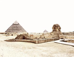 エジプト スフィンクスとピラミッドの写真素材 [FYI00498829]