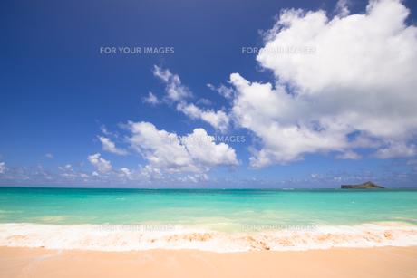 青い海と青い空と白い雲の素材 [FYI00499054]