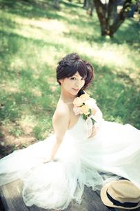 結婚式 新婦 日本人の素材 [FYI00499094]