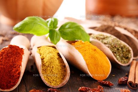 ingredients_spicesの写真素材 [FYI00535897]