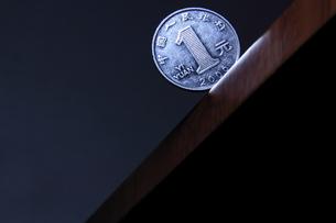 一元硬貨の写真素材 [FYI00542135]