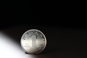 一元硬貨の写真素材 [FYI00542136]