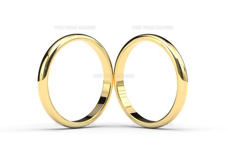 2つの指輪のCGのイラスト素材 [FYI00542341]