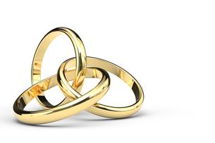 3つの交差する指輪のCGのイラスト素材 [FYI00542342]