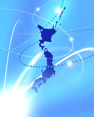 日本地図 テクノロジー ビジネスのイラスト素材 [FYI00542343]