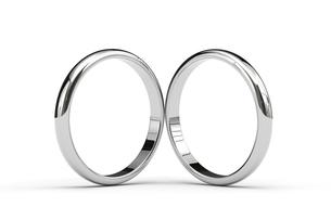 2つの指輪のCGのイラスト素材 [FYI00542350]