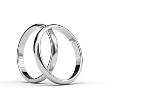 2つの指輪のCGのイラスト素材 [FYI00542351]