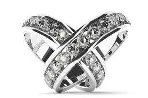 交差する2つの指輪のCGのイラスト素材 [FYI00542352]