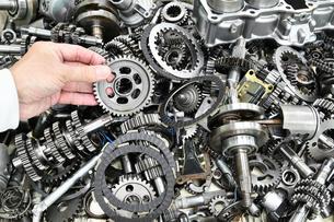 バイクエンジンの部品の写真素材 [FYI00542365]