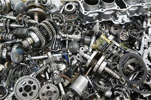 バイクエンジンの部品の写真素材 [FYI00542366]
