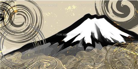 富士の墨絵のイラスト素材 [FYI00542452]