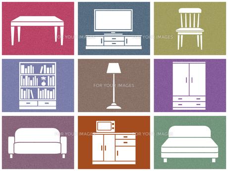 家具セットのイラスト素材 [FYI00542996]