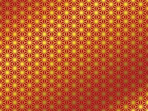 金の和柄 麻の葉(あさのは)のイラスト素材 [FYI00543019]