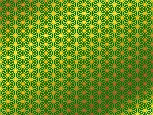 金の和柄 麻の葉(あさのは)のイラスト素材 [FYI00543021]