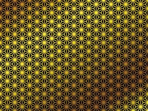 金の和柄 麻の葉(あさのは)のイラスト素材 [FYI00543022]