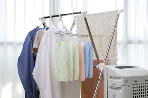 洗濯物の部屋干しの写真素材 [FYI00543886]