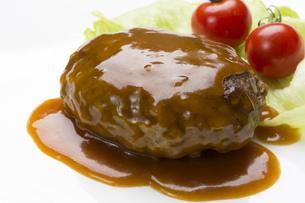 ハンバーグステーキの写真素材 [FYI00544250]