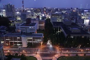 宇都宮市の夜景の写真素材 [FYI00544401]