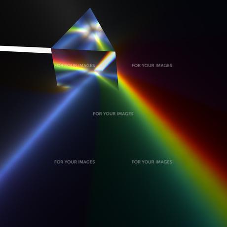 プリズムの分光のCGのイラスト素材 [FYI00544434]