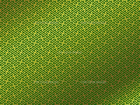 金の和柄 紗綾形(さやがた)のイラスト素材 [FYI00544512]